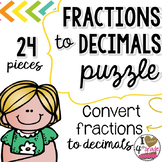 FRACTION TO DECIMAL PUZZLE