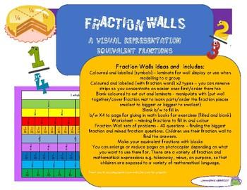 fraction walls  equivalent fractions with fraction follow on tasks originaljpg