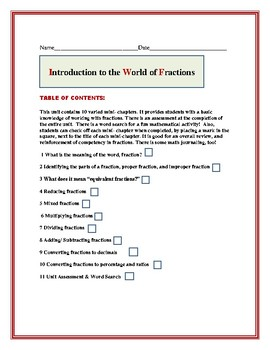 FRACTIONS: A BASIC CONTENT KNOWLEDGE UNIT