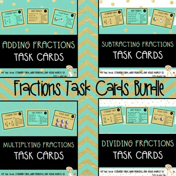 FRACTIONS AND DECIMALS BUNDLE: ADDING, SUBTRACTING, MULTIPLYING, AND DIVIDING