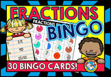 FRACTIONS GAME (BINGO ACTIVITY GRADE 2+)