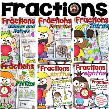 FRACTIONS: WHOLES, HALVES, FOURTHS, THIRDS, FIFTHS, SIXTHS