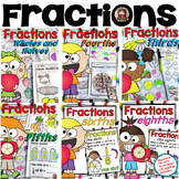 FRACTIONS: WHOLES, HALVES, FOURTHS, THIRDS, FIFTHS, SIXTHS, EIGHTHS, TENTHS