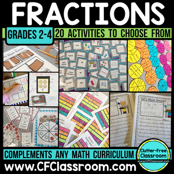 Fraction BUNDLE | Fractions on a Number Line | Comparing Fractions | Math Center