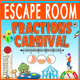 FRACTIONS CARNIVAL Escape Room/Breakout ~ALL DIGITAL LOCKS~