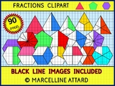 FRACTIONS CLIPART: TRIANGLE FRACTIONS, PENTAGON FRACTIONS & HEXAGON FRACTIONS