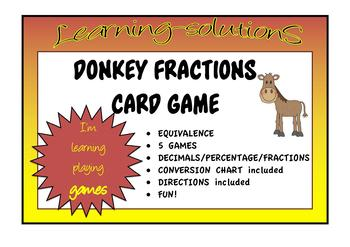 FRACTIONS - Equivalence - DONKEY CARD GAME