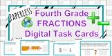 FRACTIONS Digital Task Cards **Google Classroom** Fourth Grade