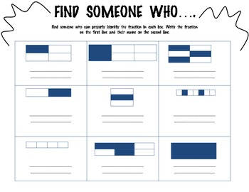FRACTIONS-Find Someone Who- Kagan