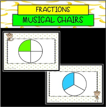 Monkey Fraction Musical Chairs GAME