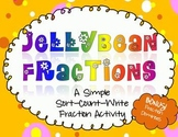 FRACTIONS - Fun with Jellybeans! Parts to Whole - Supports