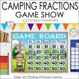 FRACTIONS GAME SHOW: FRACTIONS JEOPARDY GAME  WINTER & CAMPING THEME