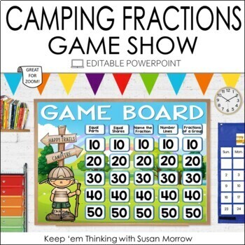 FRACTIONS GAME SHOW: FRACTIONS POWERPOINT GAME  SHOW