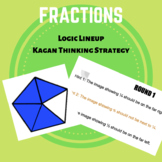 FRACTIONS - Kagan Thinking Strategy - Logic Line up (Fract