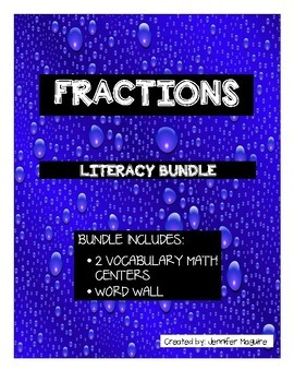 FRACTIONS - Literacy Mini Bundle