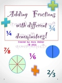 FRACTIONS MATH GAME: Adding fractions