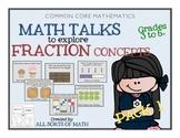 FRACTIONS MATH TALK (Grades 3-5) PACK 1