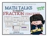 FRACTIONS MATH TALK (Grades 3-5) PACK 2