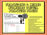 FRACTIONS & MIXED NUMBERS PRACTICE WITH TRIVIA QUESTIONS