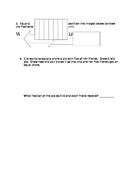 FRACTIONS: Module 5 Topic A and B QUIZ, Grade 3 EngageNY
