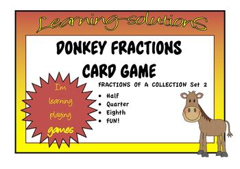 FRACTIONS of a COLLECTION Set 2 - DONKEY CARD GAME