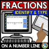 FRACTIONS ON A NUMBER LINE 3RD GRADE ACTIVITIES (BOOM CARDS MATH GAME)