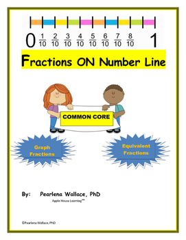 FRACTIONS ON THE NUMBER LINE: Graph & Equivalent Fractions  CCSS