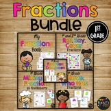FRACTIONS Bundle with Book, Games, Whole Group & Center Activities