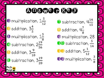 FRACTIONS SORT AND SOLVE WORD PROBLEMS