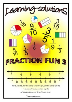 FRACTIONS Screener - Fraction Fun 2 - Year 3 Skills + Answers + Class Overview