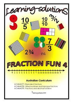 FRACTIONS Screener - Fraction Fun 3 - Year 4 Skills + Answers + Class Overview