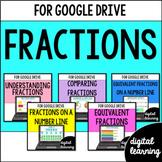 FRACTIONS Third-Grade Common Core Bundle for Google Classroom DIGITAL