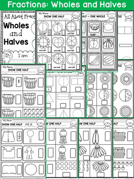 FRACTIONS: WHOLES AND HALVES