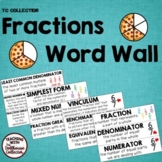 FRACTIONS WORD WALL - From the TC Collection