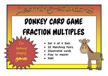 FRACTIONS of a COLLECTION BUNDLE - Sets 1-3 - DONKEY CARD GAME