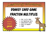 FRACTIONS of a COLLECTION - Fraction Multiples (Set 4) - DONKEY CARD GAME