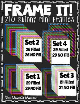 FRAME IT! Skinny Mini FRAMES FOR COVER PAGES AND WORKSHEETS (210 IMAGES)