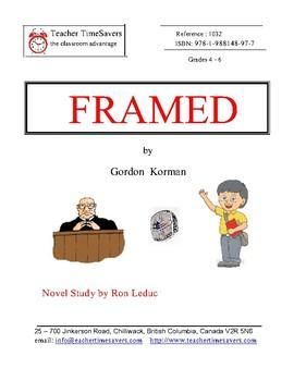 FRAMED  by Gordon Korman   Novel Study for grades 4-6