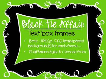 FRAMES - Black Tie Affair - Black and White Text Frames