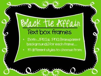 FRAMES - Black Tie Affair - Black and White Text Frames