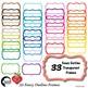 FRAMES Clipart, 33 Colors Outline Frames {Best Teacher Tools} AMB-1912