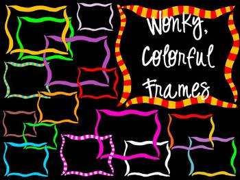 FRAMES - Colorful & Wonky! - Personal & Commercial use