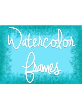 FRAMES - Dreamy Watercolors - Personal & Commercial use