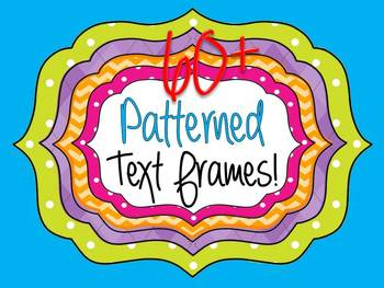 FRAMES - Layered Bundle with PATTERN FILLS - Personal and Commercial use