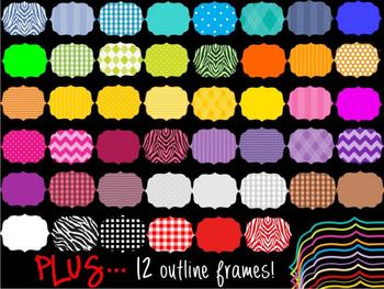 FRAMES - Layered Bundle with PATTERN FILLS - Personal and