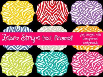 FRAMES - Layered Bundle with ZEBRA STRIPES