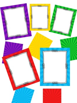 FRAMES - Starburst Pattern - Personal and Commercial use