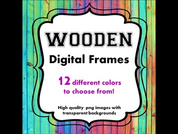 FRAMES - Wooden Pattern - Personal & Commercial use