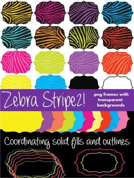 FRAMES - ZEBRA STRIPES2! - Personal and Commercial use