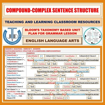 COMPOUND-COMPLEX SENTENCE: LESSON AND RESOURCES